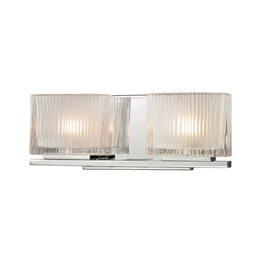 Westmore Lighting Cascata 2-Light Polished Chrome Square Vanity Light