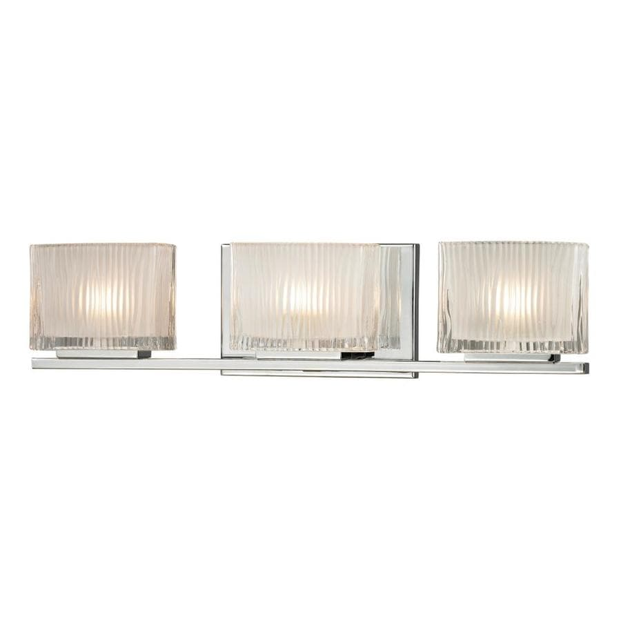 Westmore Lighting Cascata 3-Light 5-in Polished Chrome Square Vanity Light