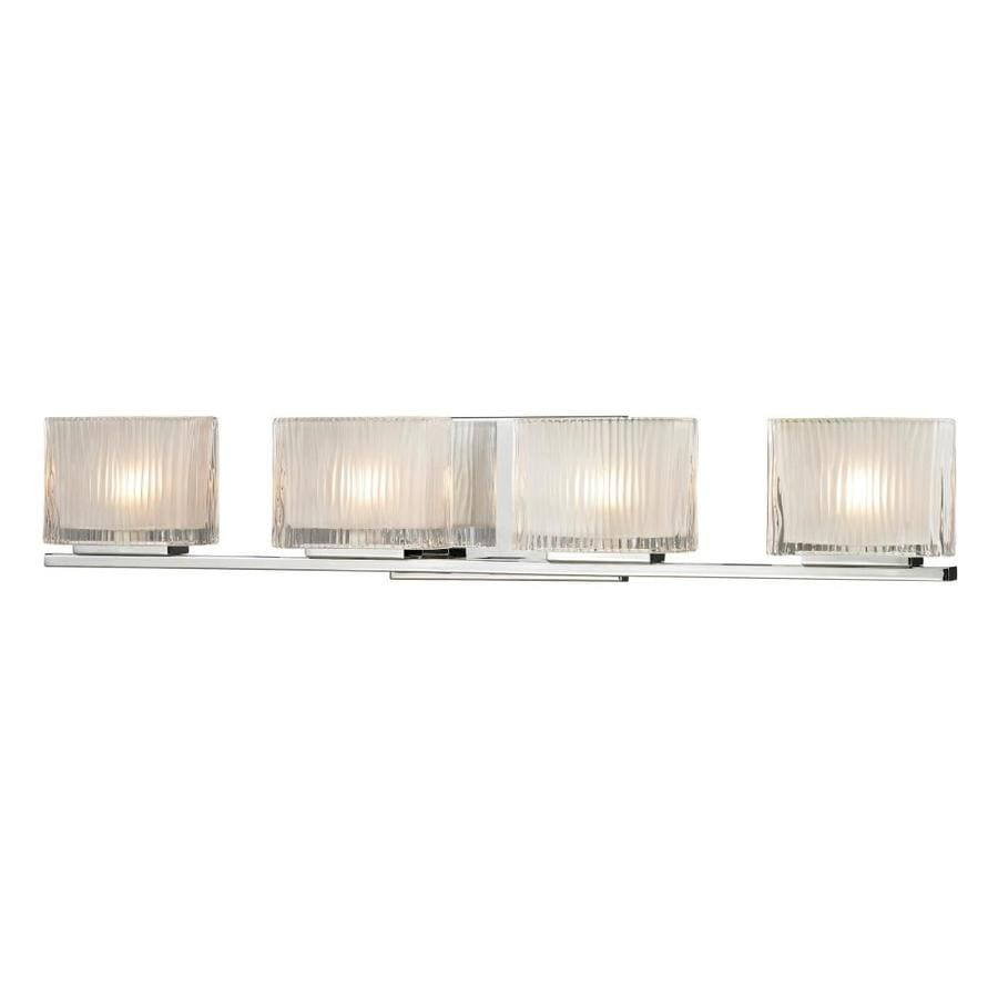 Westmore Lighting Cascata 4-Light 5-in Polished Chrome Square Vanity Light