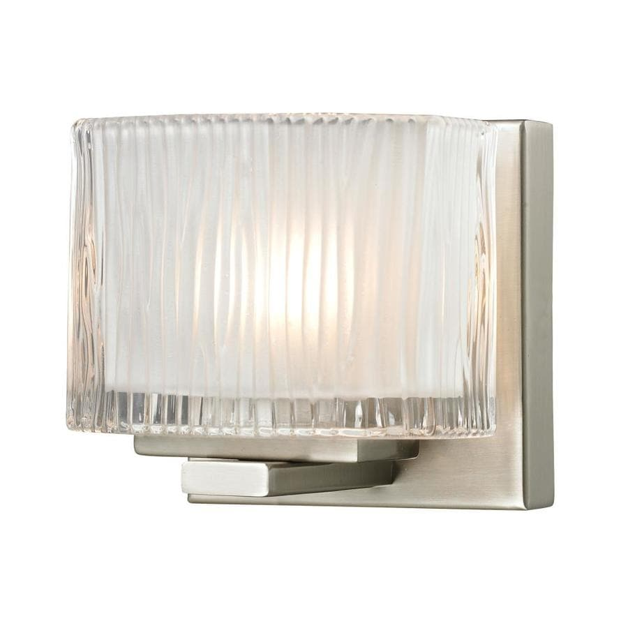 Westmore Lighting Cascata 1-Light Brushed Nickel Square Vanity Light