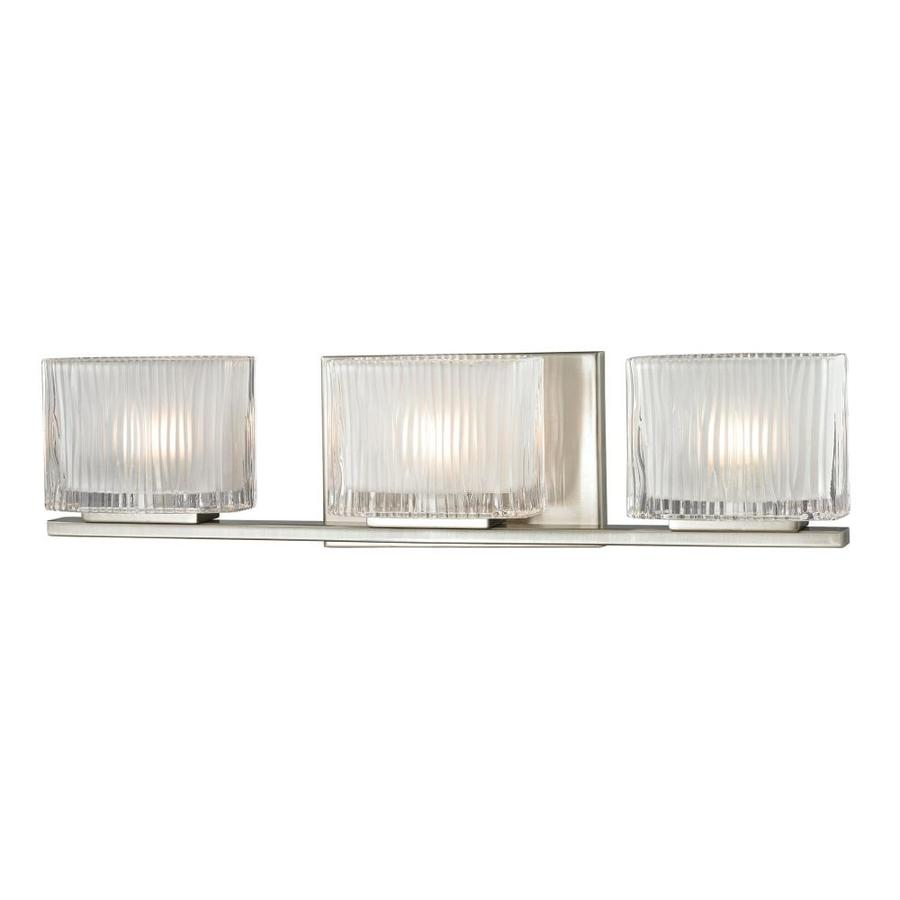 Shop Westmore Lighting Cascata 3-Light 5-in Brushed Nickel Square Vanity Light at Lowes.com
