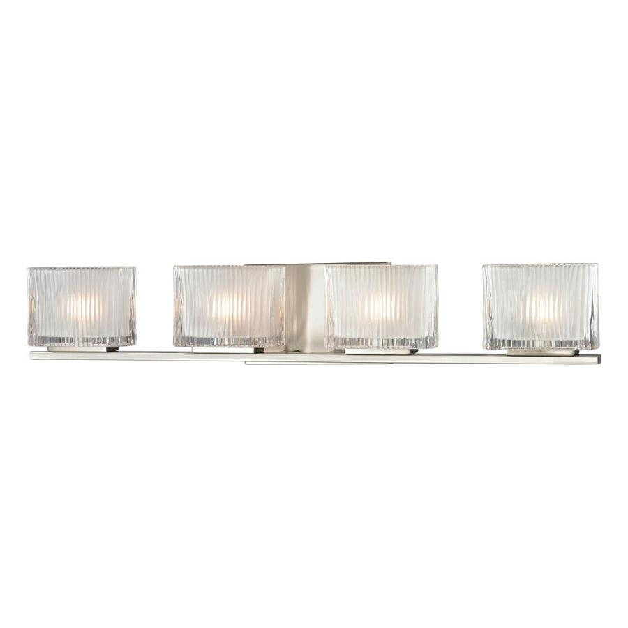 Westmore Lighting Cascata 4-Light 5-in Brushed Nickel Square Vanity Light