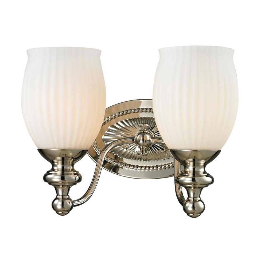 Westmore Lighting Grosvenor 2-Light 9-in Polished Nickel Bell Vanity Light