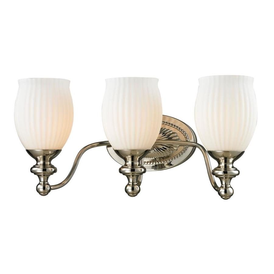 Westmore Lighting Grosvenor 3-Light 9-in Polished Nickel Bell Vanity Light