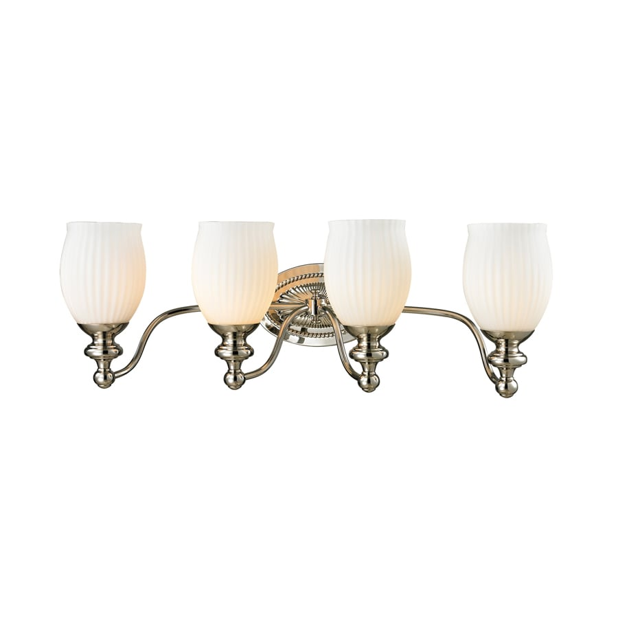 Westmore Lighting Grosvenor 4-Light 9-in Polished Nickel Bell Vanity Light