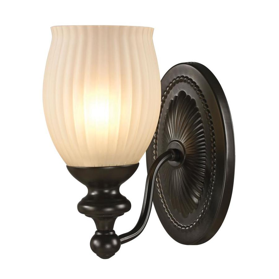 Westmore Lighting Grosvenor 1-Light 9-in Oil Rubbed Bronze Bell Vanity Light