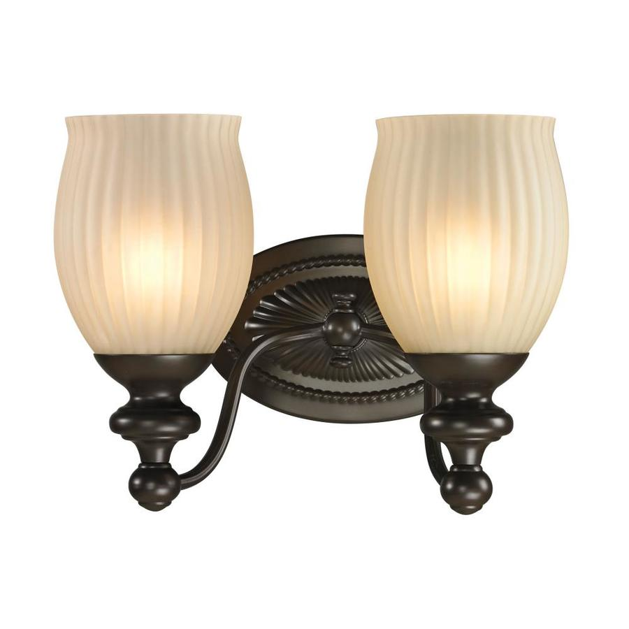 Westmore Lighting Grosvenor 2-Light 9-in Oil Rubbed Bronze Bell Vanity Light