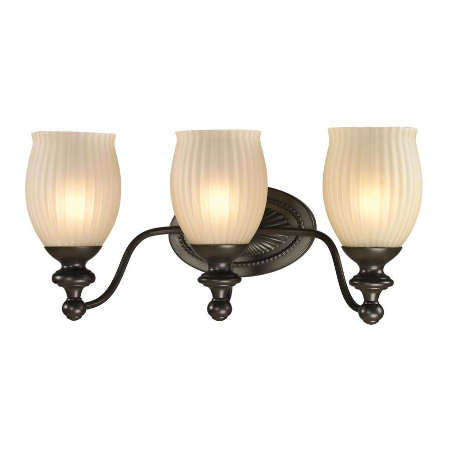 Westmore Lighting Grosvenor 3-Light 9-in Oil Rubbed Bronze Bell Vanity Light