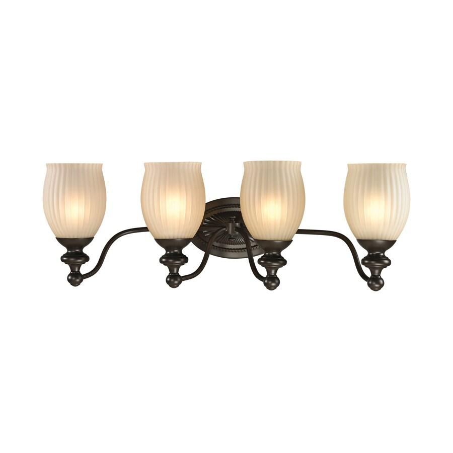 Westmore Lighting Grosvenor 4-Light 9-in Oil Rubbed Bronze Bell Vanity Light