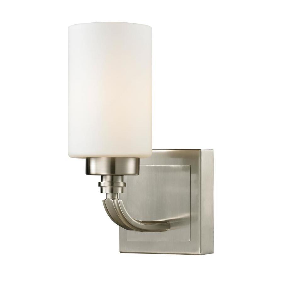 Westmore Lighting Balfour 1-Light 10-in Brushed Nickel Cylinder Vanity Light