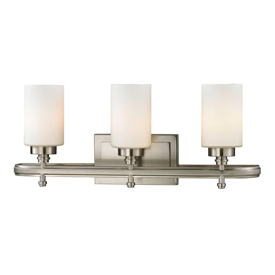 Westmore Lighting Balfour 3-Light 10-in Brushed Nickel Cylinder Vanity Light