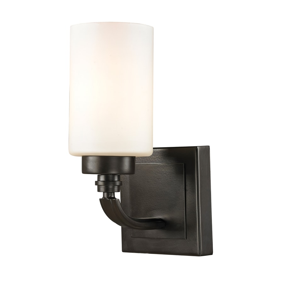 Westmore Lighting Balfour 1-Light 10-in Oil Rubbed Bronze Cylinder Vanity Light