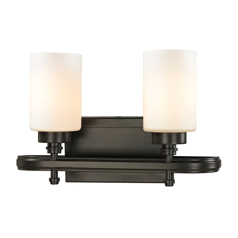 Westmore Lighting Balfour 2-Light 10-in Oil Rubbed Bronze Cylinder Vanity Light