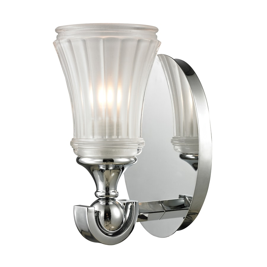 Westmore Lighting Greystone 1-Light 9-in Polished Chrome Bell Vanity Light