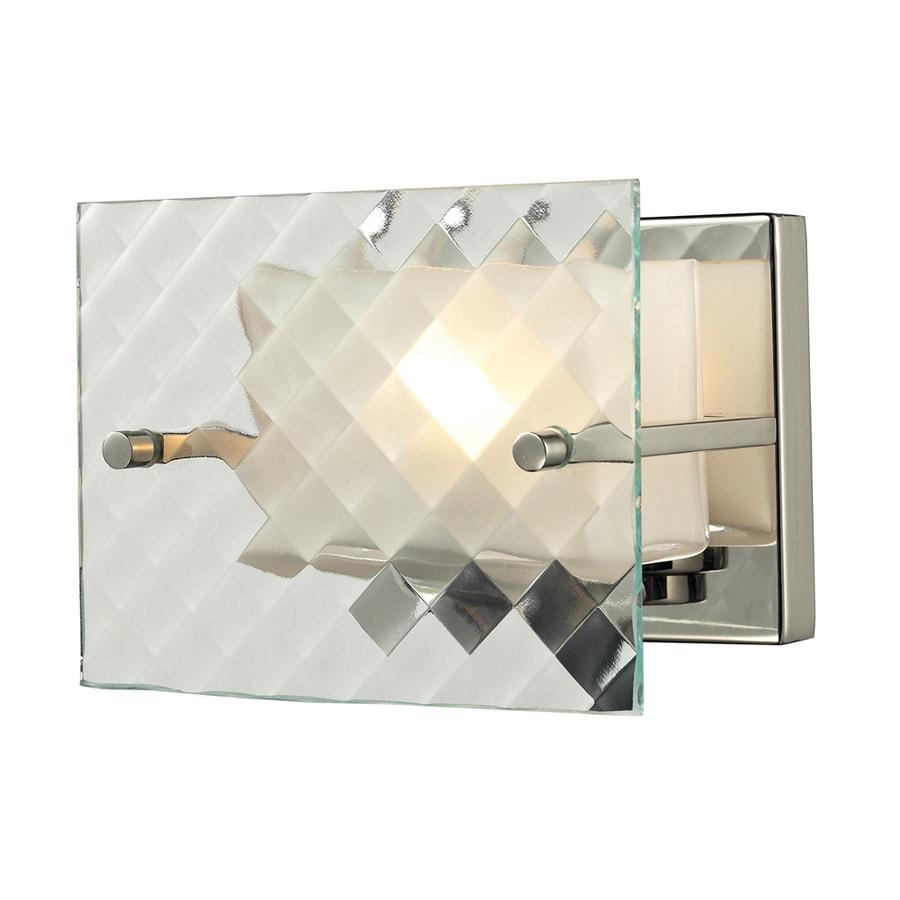 Westmore Lighting Solisbury 1-Light 5-in Brushed Nickel Square Vanity Light