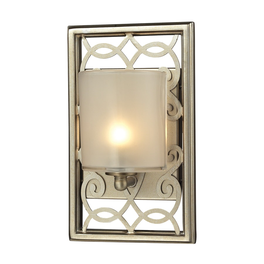 Westmore Lighting Dijon 1-Light 9-in Aged Silver Rectangle Vanity Light