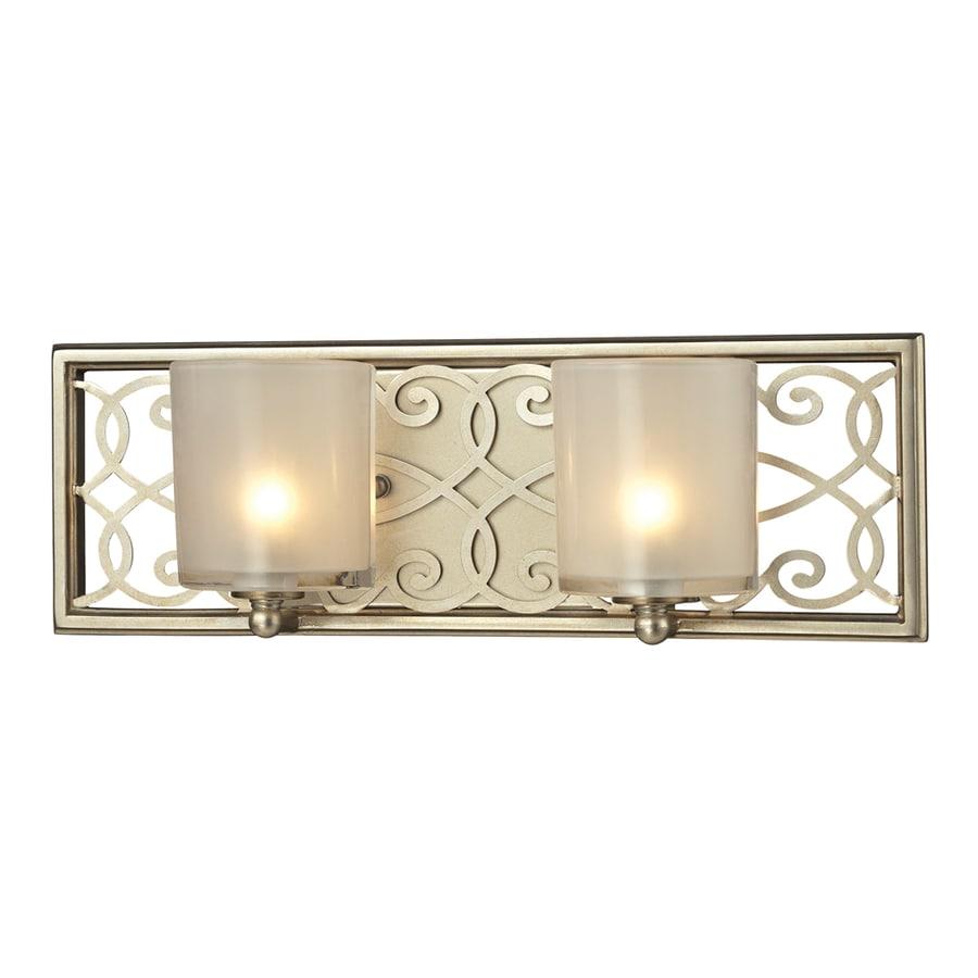 Westmore Lighting Dijon 2-Light Aged Silver Rectangle Vanity Light