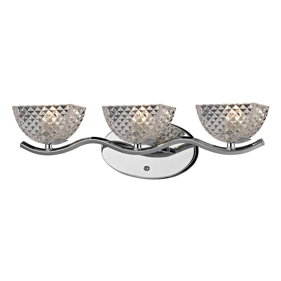 Westmore Lighting Scholar's Mate 3-Light 5-in Polished Chrome Bowl Vanity Light