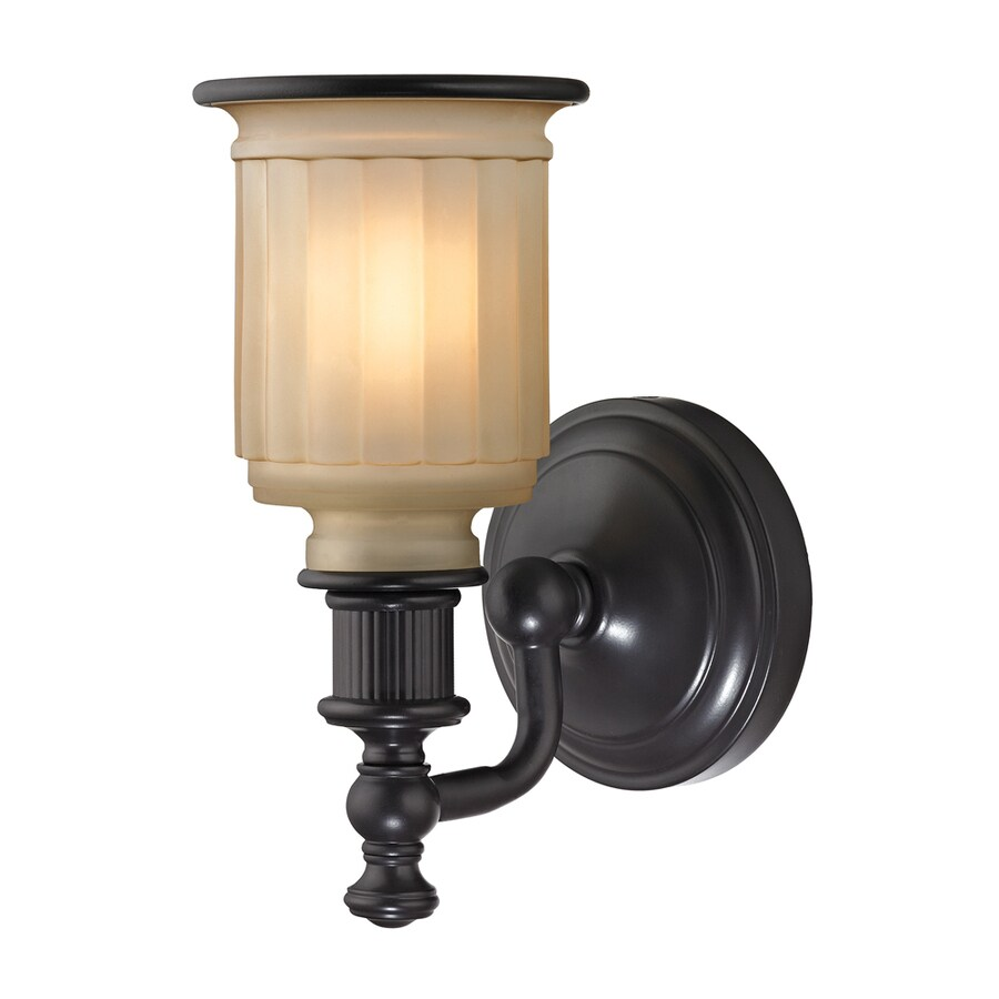 Westmore Lighting Nicolette 1-Light 10-in Oil Rubbed Bronze Bell Vanity Light