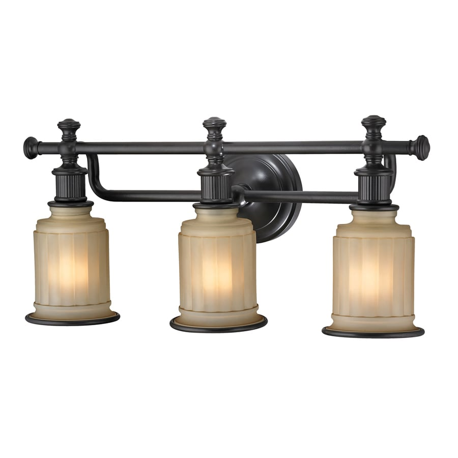 Shop Westmore Lighting Nicolette 3-Light 10-in Oil Rubbed Bronze Bell Vanity Light at Lowes.com