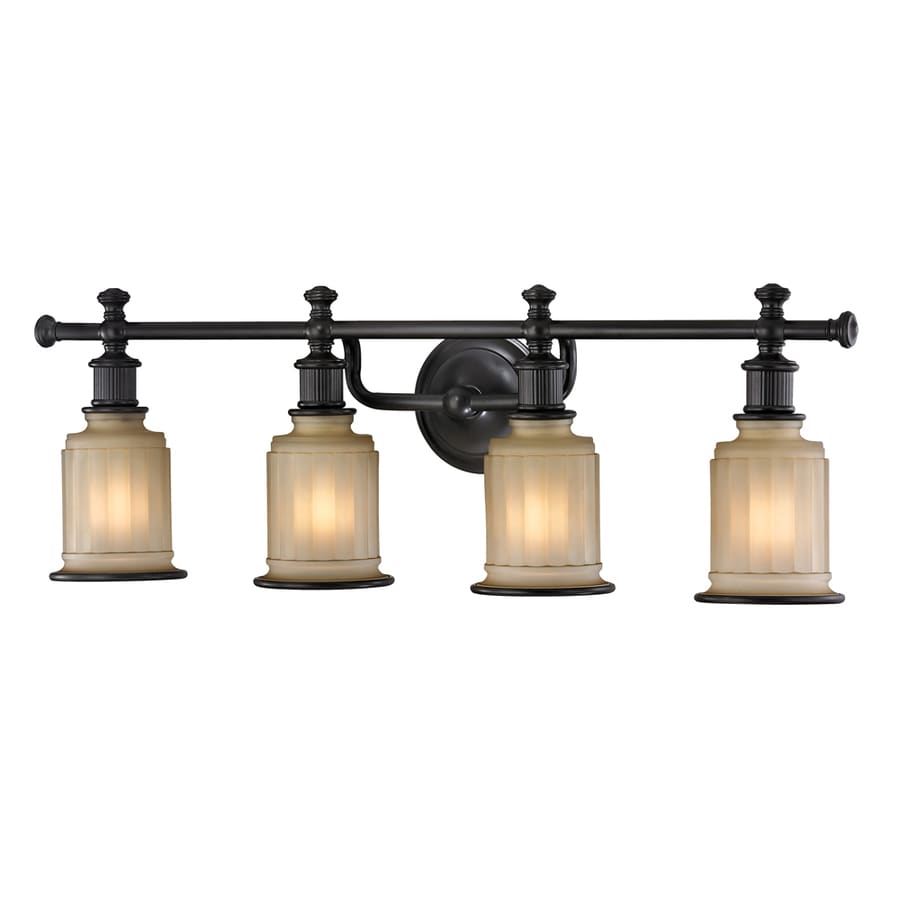 Westmore Lighting Nicolette 4-Light 10-in Oil Rubbed Bronze Bell Vanity Light
