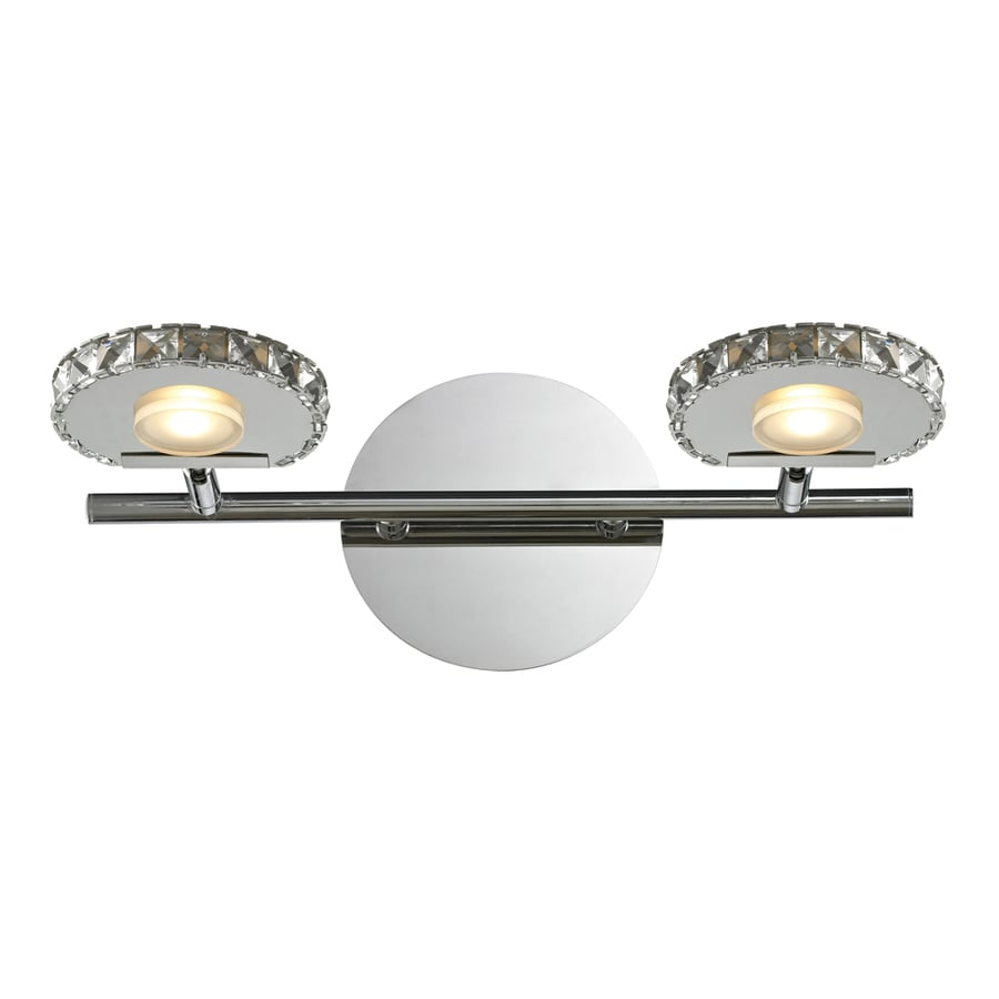 Westmore Lighting Maelstrom 2-Light 6-in Polished Chrome LED Vanity Light