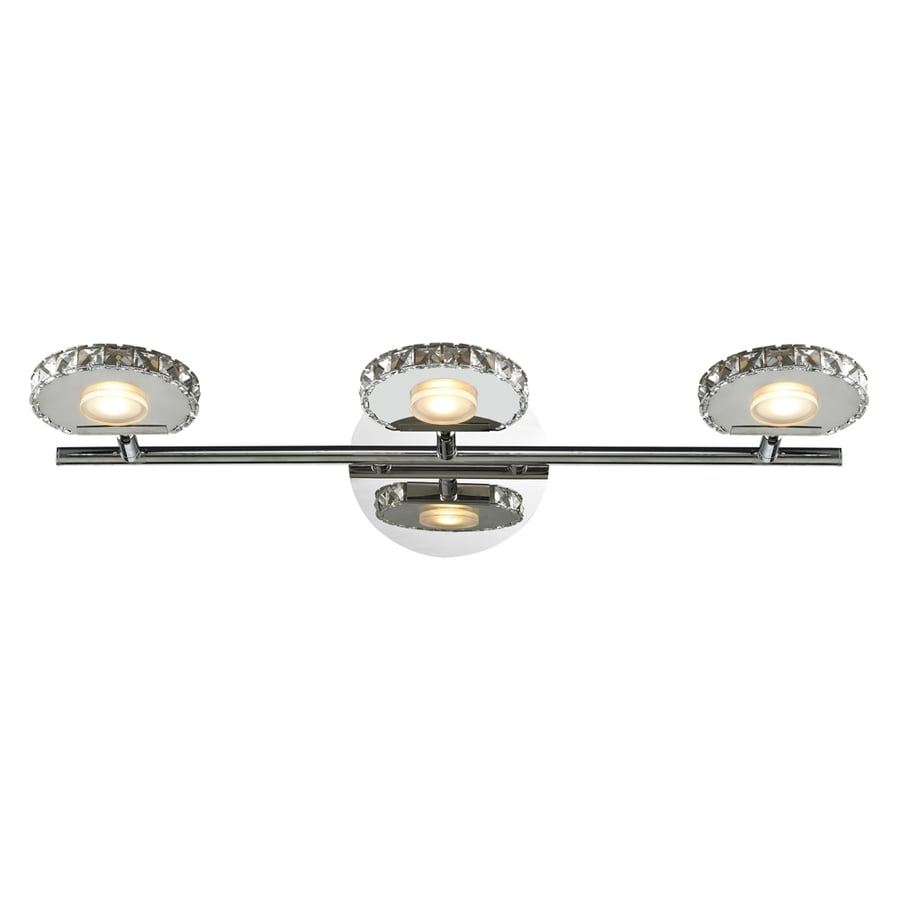 Westmore Lighting Maelstrom 3-Light 6-in Polished Chrome Integrated LED Vanity Light