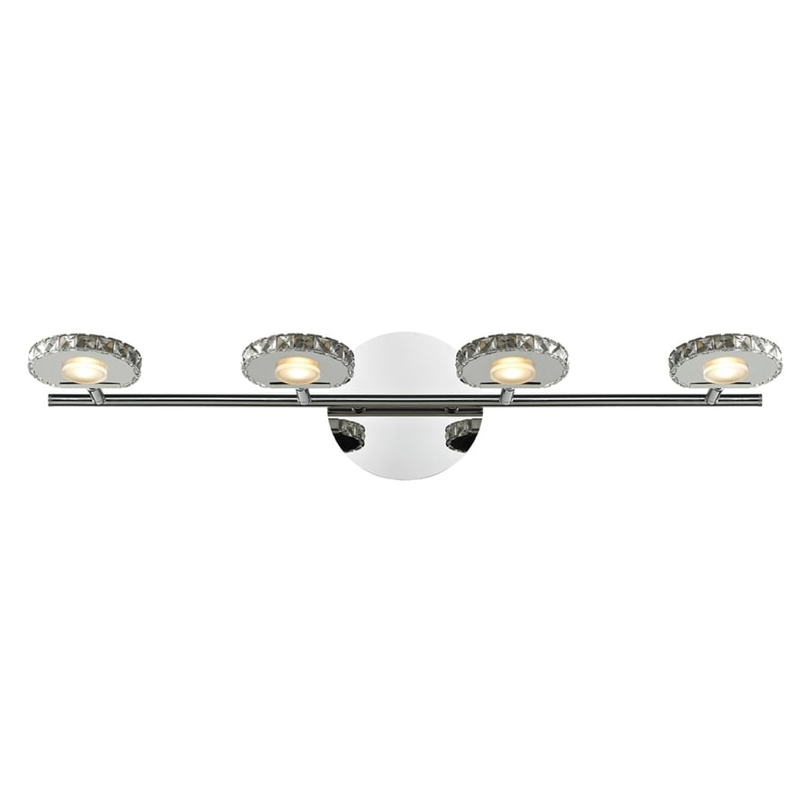 Westmore Lighting Maelstrom 4-Light 6-in Polished Chrome LED Vanity Light