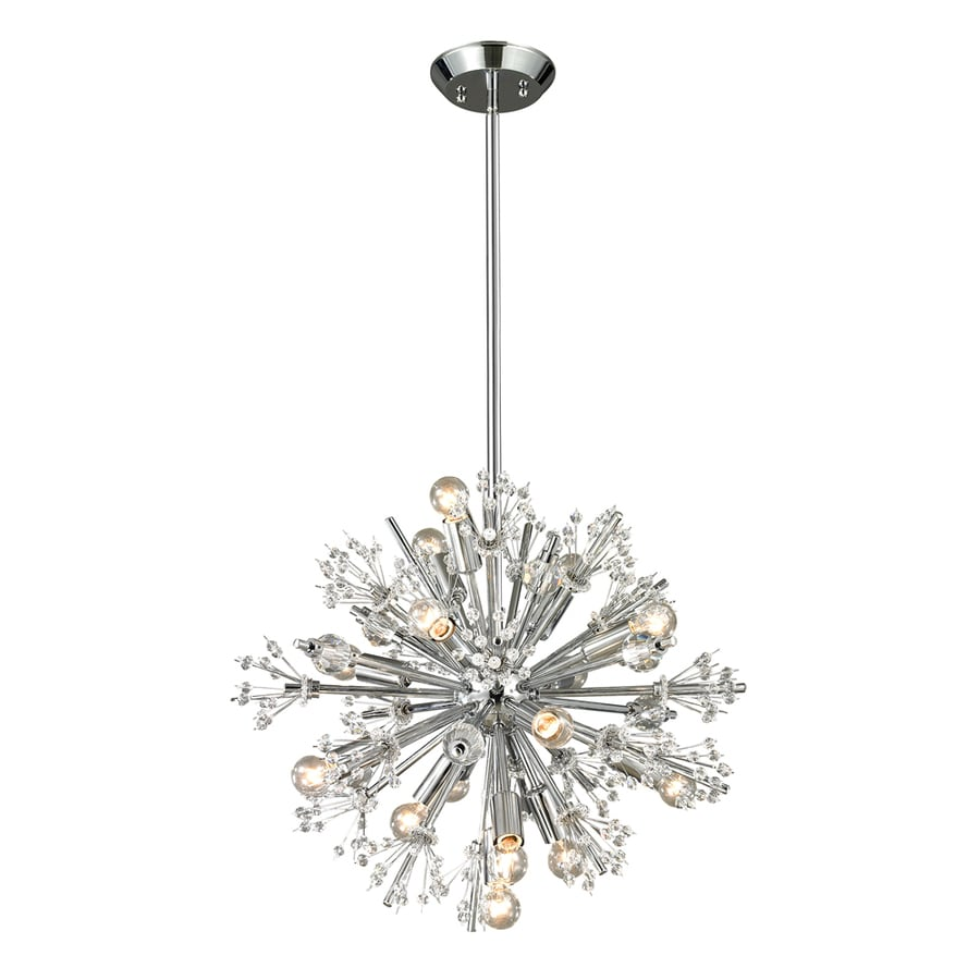 Westmore Lighting Gamma 20-in 15-Light Polished Chrome Crystal Abstract Chandelier