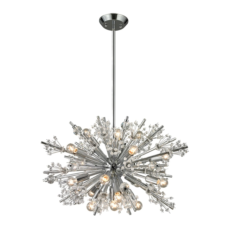Westmore Lighting Gamma 20-in 16-Light Polished Chrome Crystal Abstract Chandelier