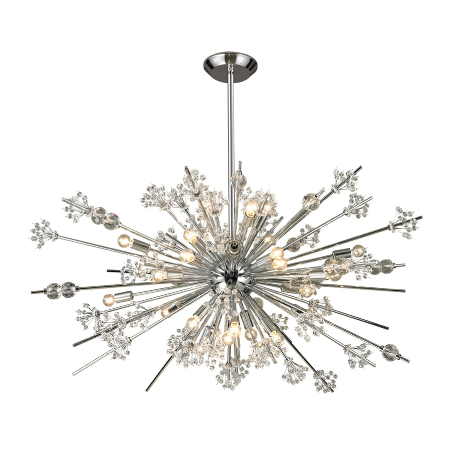 Westmore Lighting Gamma 20-in 18-Light Polished Chrome Crystal Abstract Chandelier