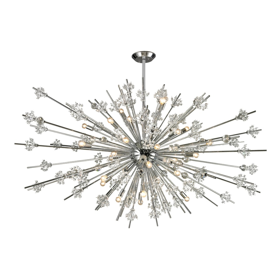 Westmore Lighting Gamma 20-in 19-Light Polished Chrome Crystal Abstract Chandelier