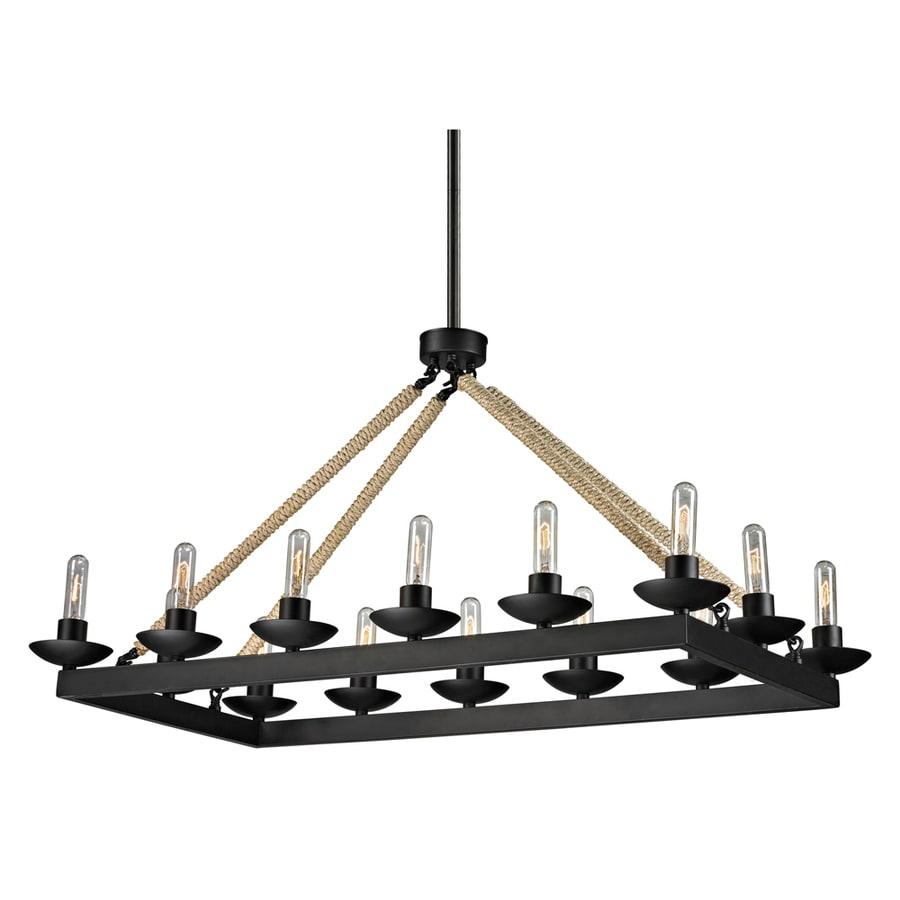 Westmore Lighting Kennicut 43-in 14-Light Matte Black Rustic Linear Chandelier