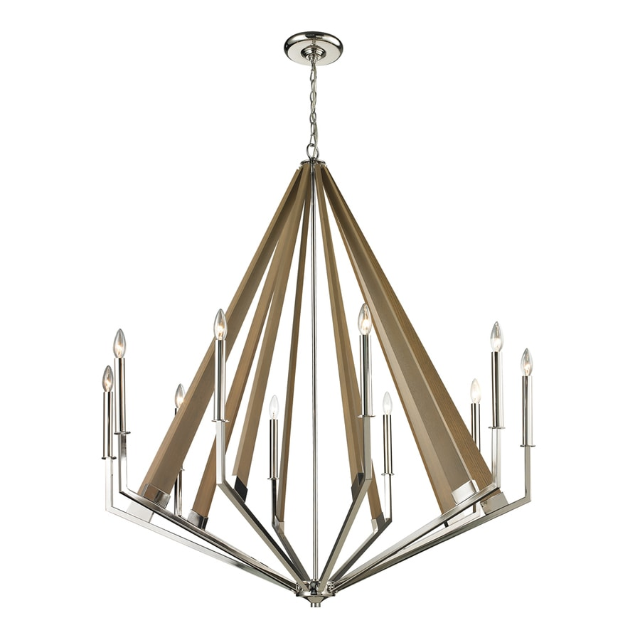 Westmore Lighting Kinghall 12-in 5-Light Polished Nickel Candle Chandelier