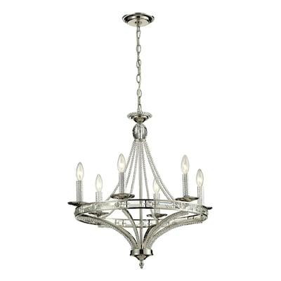 Westmore Lighting Minuet 6-Light Polished Nickel Glam