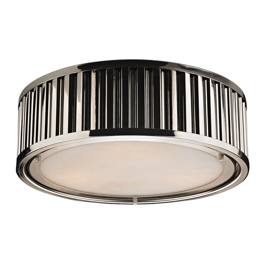 Westmore Lighting Chelsea 16-in W Polished Nickel Standard Flush Mount Light