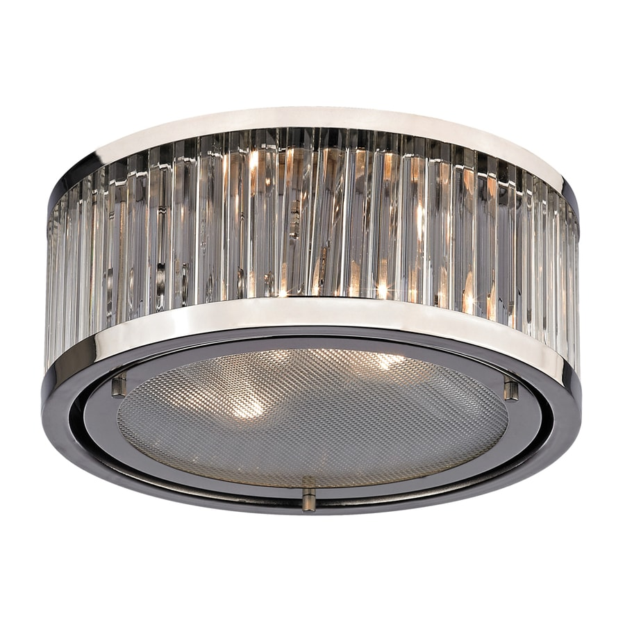 Westmore Lighting Chelsea 12-in W Polished Nickel Flush Mount Light