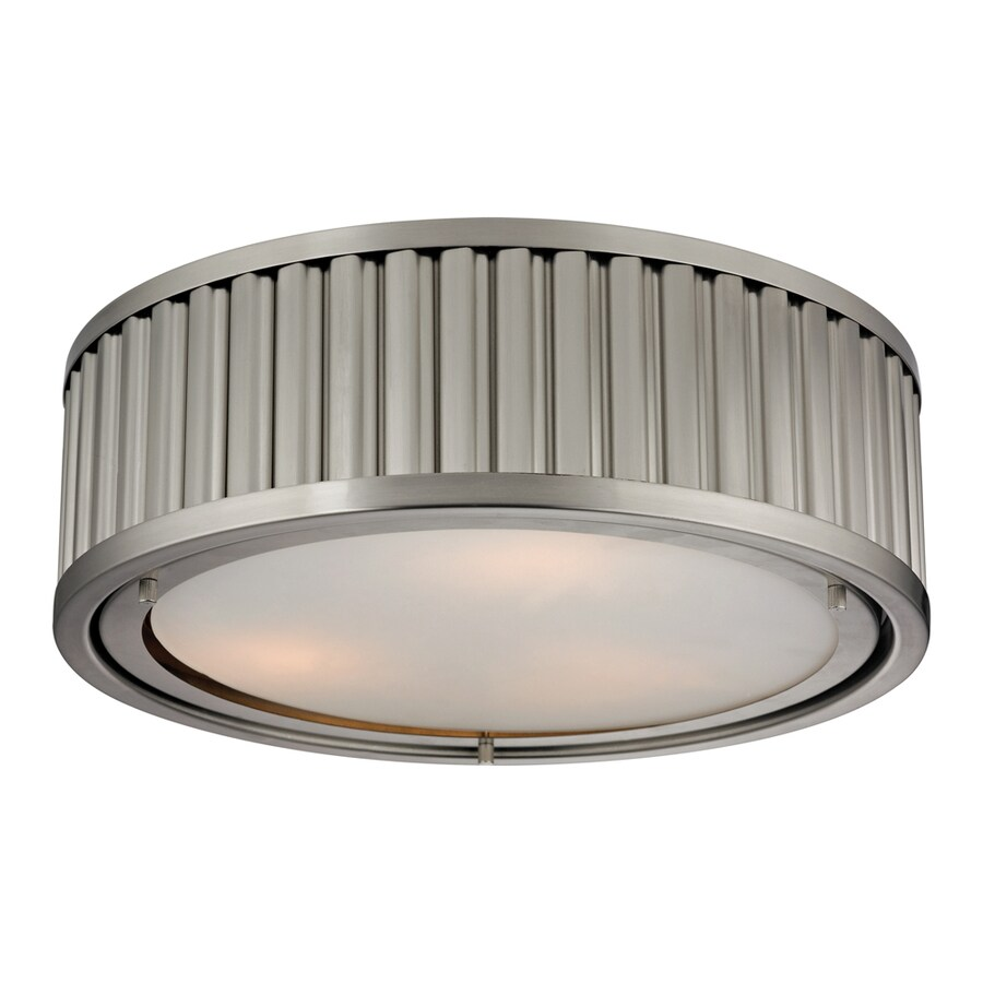 Westmore Lighting Chelsea 16-in W Brushed Nickel Flush Mount Light