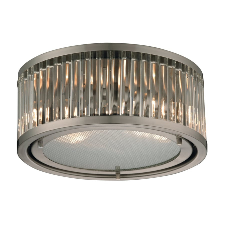 Westmore Lighting Chelsea 12-in W Brushed Nickel Flush Mount Light