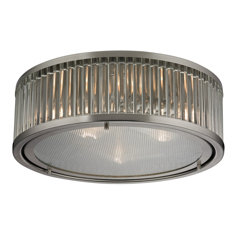 Westmore Lighting Chelsea 16-in W Brushed Nickel Ceiling Flush Mount Light