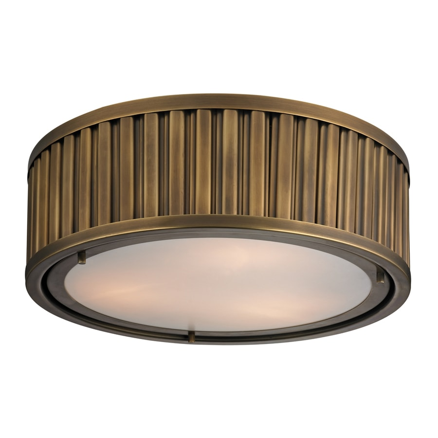 Westmore Lighting Chelsea 16-in W Aged Brass Flush Mount Light