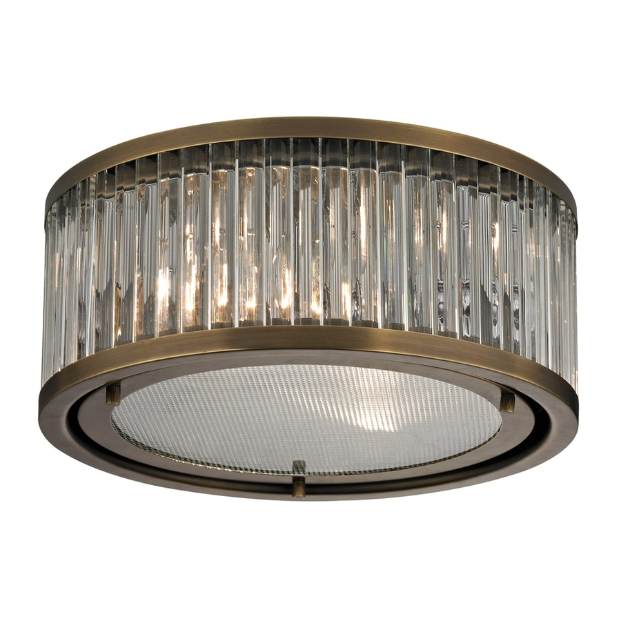 Westmore Lighting Chelsea 12-in W Aged Brass Standard Flush Mount Light