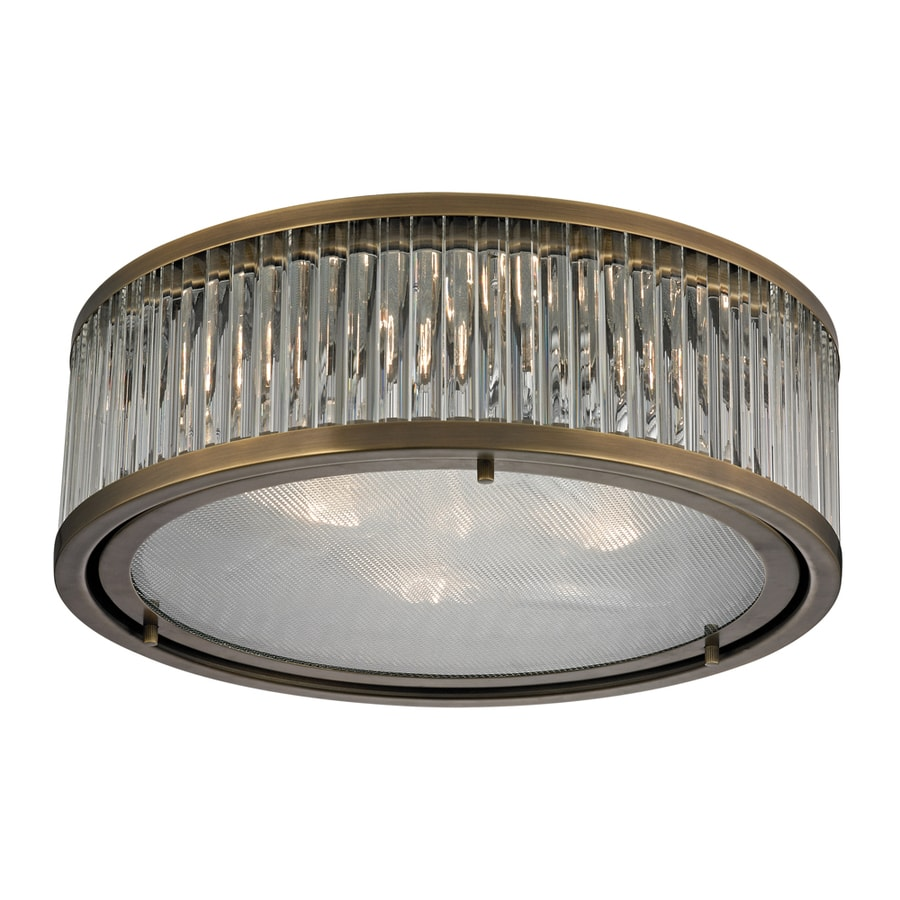 Westmore Lighting Chelsea 16-in W Aged Brass Standard Flush Mount Light