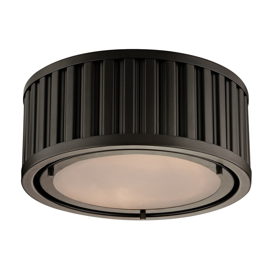 Westmore Lighting Chelsea 12-in W Oil Rubbed Bronze Flush Mount Light