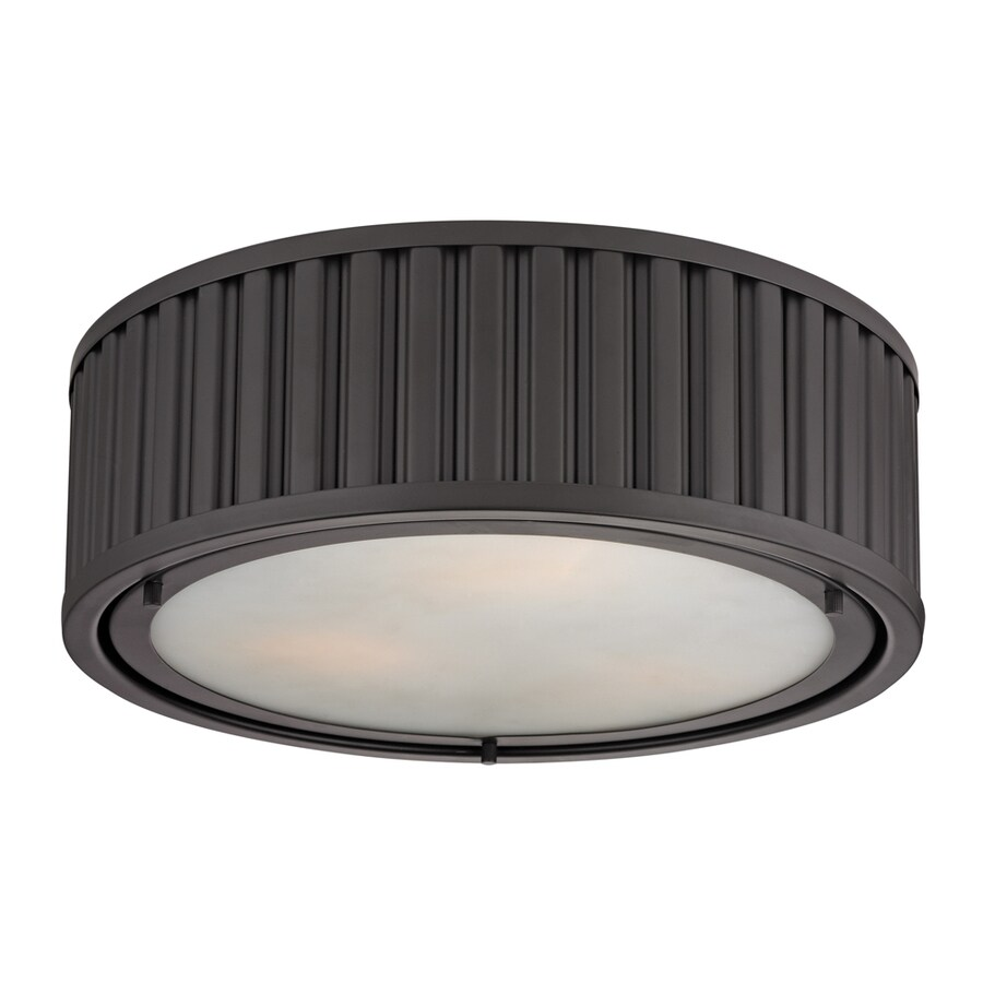 Westmore Lighting Chelsea 16-in W Oil-Rubbed Bronze Ceiling Flush Mount Light