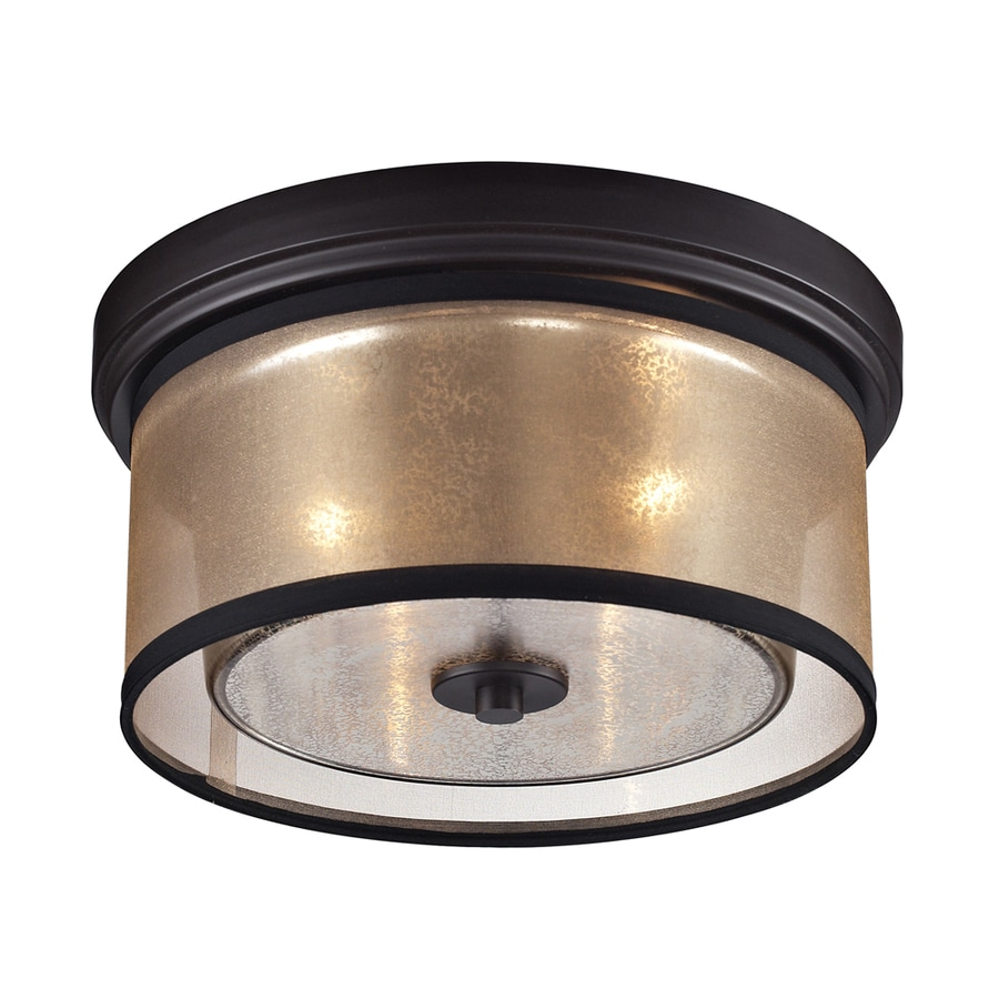 Westmore Lighting Sandbar 13-in W Oil Rubbed Bronze Flush Mount Light