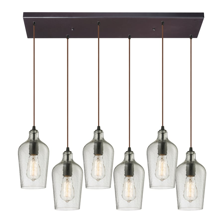 Westmore Lighting Glassmith 30-in Satin Nickel Mini Tinted Glass Teardrop Pendant