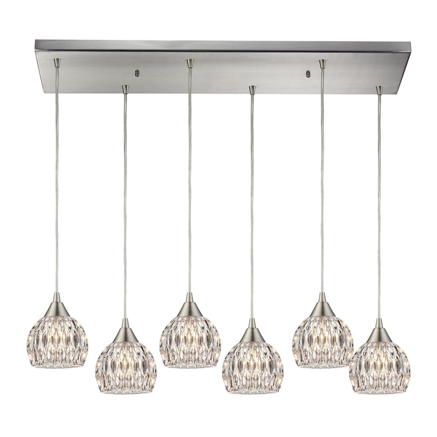 Westmore Lighting Saratoga Springs 10-in Satin Nickel Crystal Mini Crystal Acorn Pendant