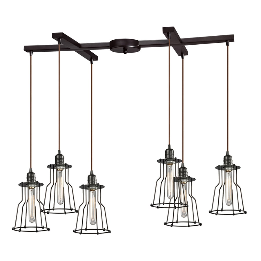 Westmore Lighting Bournemouth 10-in Oil Rubbed Bronze Rustic Single Pendant