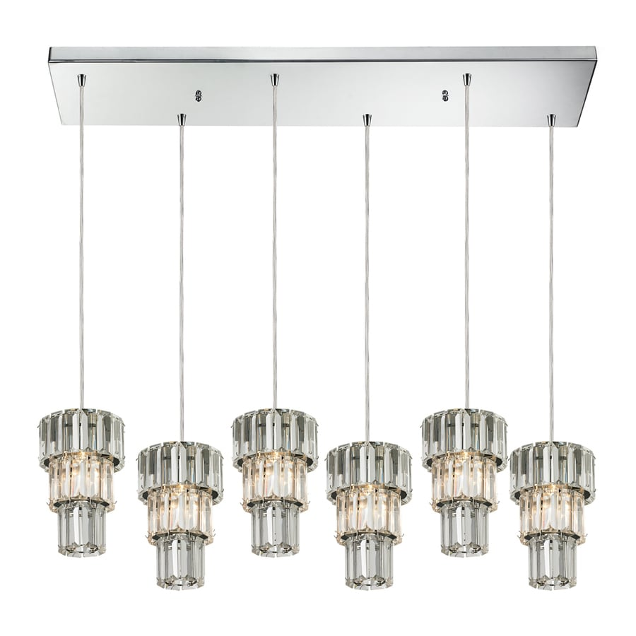 Westmore Lighting Keswick 10-in Polished Chrome Crystal Mini Crystal Cylinder Pendant